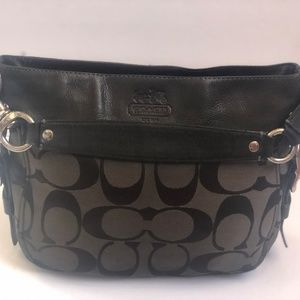 Coach Handbag F12657 Shoulderbag Black Signature